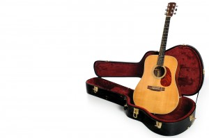 acoustic guitar and hardshell case