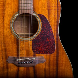 solid top acoustic guitar